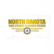 North Dakota Flag Aluminum License Plate