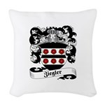 Ziegler Coat of Arms Woven Throw Pillow