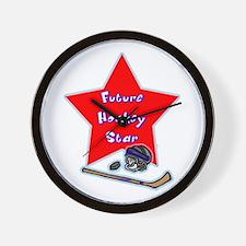 Future Hockey Player Wall Clock