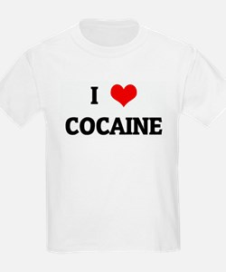 I Love COCAINE Kids T-Shirt