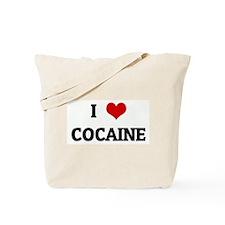 I Love COCAINE Tote Bag