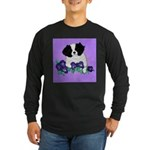 Japanese Chin Pup Long Sleeve Dark T-Shirt