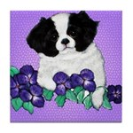 Japanese Chin Pup Tile Coaster