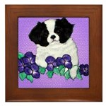 Japanese Chin Pup Framed Tile