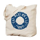 Blue whale Canvas Totes