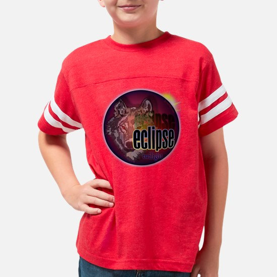 eclipse wolf moon shadow Youth Football Shirt