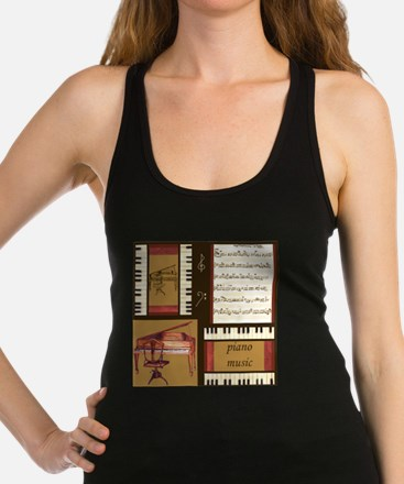 Piano Keys Music Song Clef Racerback Tank Top