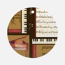 Piano Keys Music Song Clef Ornament (Round)