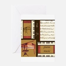 Piano Keys Music Song Clef Greeting Card