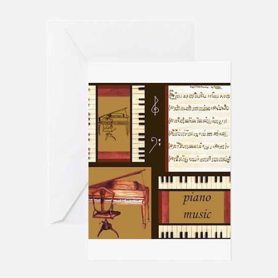 Piano Keys Music Song Clef Greeting Card