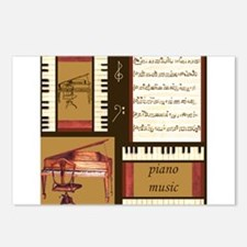 Piano Keys Music Song Clef Postcards (Package of 8