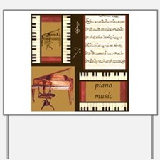 Piano Keys Music Song Clef Yard Sign