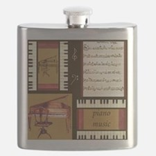 Piano Keys Music Song Clef Flask
