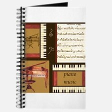 Piano Keys Music Song Clef Journal
