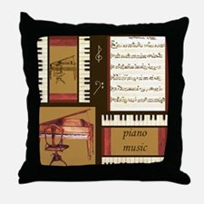 Piano Keys Music Song Clef Throw Pillow