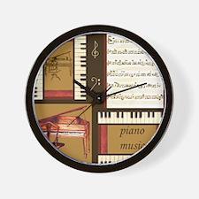 Piano Keys Music Song Clef Wall Clock