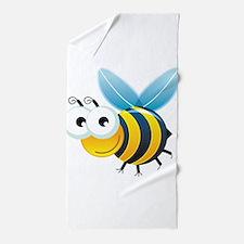 Happy Bee Beach Towel