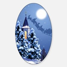 Christmas Oval Decal