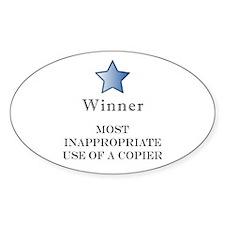 The Photocopier Award Oval Decal
