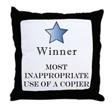 The Photocopier Award Throw Pillow