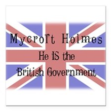 """The British Government Square Car Magnet 3"""" x 3"""""""