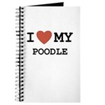 I Love My Poodle Journal