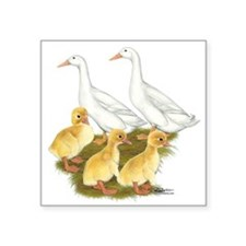 White Duck Family Sticker
