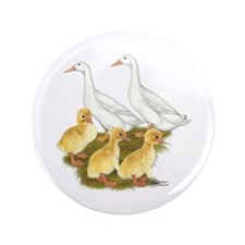 White Duck Family 3.5&Quot; Button