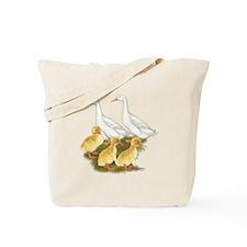 White Duck Family Tote Bag