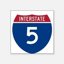 I-5 Highway Oval Sticker