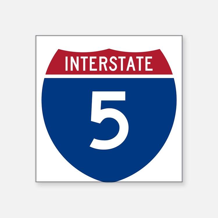 I-5 Highway Oval Sticker