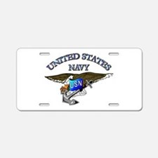 Navy - Eagle with Anchor Aluminum License Plate