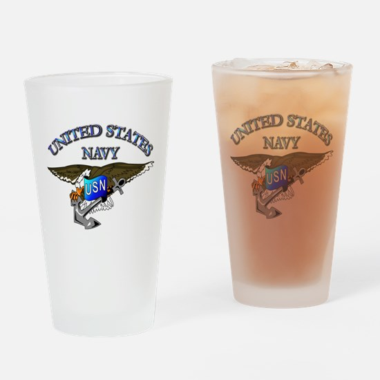Navy - Eagle with Anchor Drinking Glass