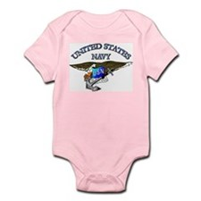 Navy - Eagle with Anchor Infant Bodysuit