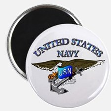 """Navy - Eagle with Anchor 2.25"""" Magnet (10 pack)"""