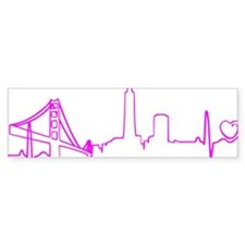 San Francisco Heartbeat (Heart) F Bumper Sticker