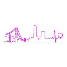 San Francisco Heartbeat (Heart) Fu Wall Decal