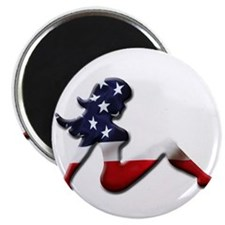 "USA Trucker Girl 2.25"" Magnet (100 pack)"