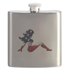 USA Trucker Girl Flask