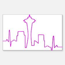 Seattle Heartbeat Fuschia Decal