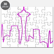 Seattle Heartbeat Fuschia Puzzle