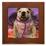 BULLDOG SMILES Framed Tile