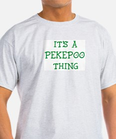 Pekepoo thing Ash Grey T-Shirt