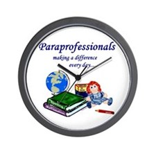 Paraprofessionals Making a Difference Wall Clock