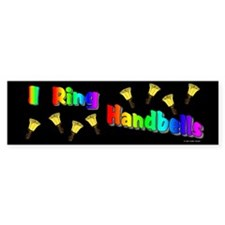 I Ring Handbells Black Bumper Bumper Sticker