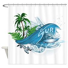 Surfboard, Shower Curtain