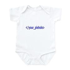 Shut Your Piehole! Infant Bodysuit