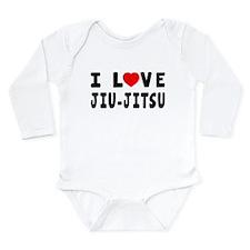 I Love Jiu-Jitsu Long Sleeve Infant Bodysuit