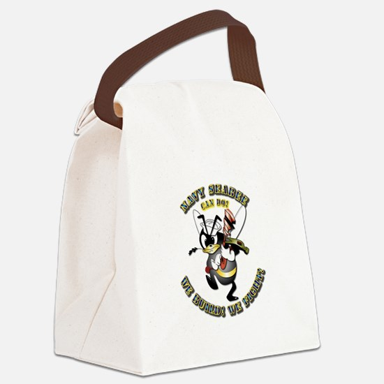 Navy SeaBee - Construction Canvas Lunch Bag