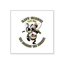 "Navy SeaBee - Construction Square Sticker 3"" x 3"""